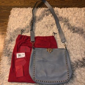 Valentino rockstud hobo messenger bag